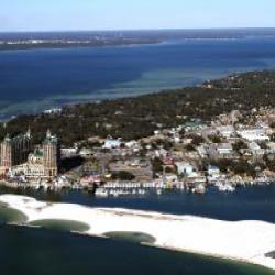 Destin Pass and the Harbor from above