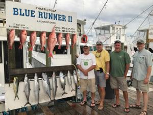 Click to enlarge image Red Snapper, dolphinfish, tuna - Rick Catches a nice one on a 6 hour trip - July 2017